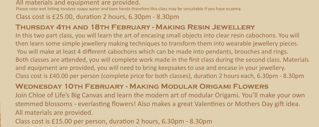 Creative Craft Classes
