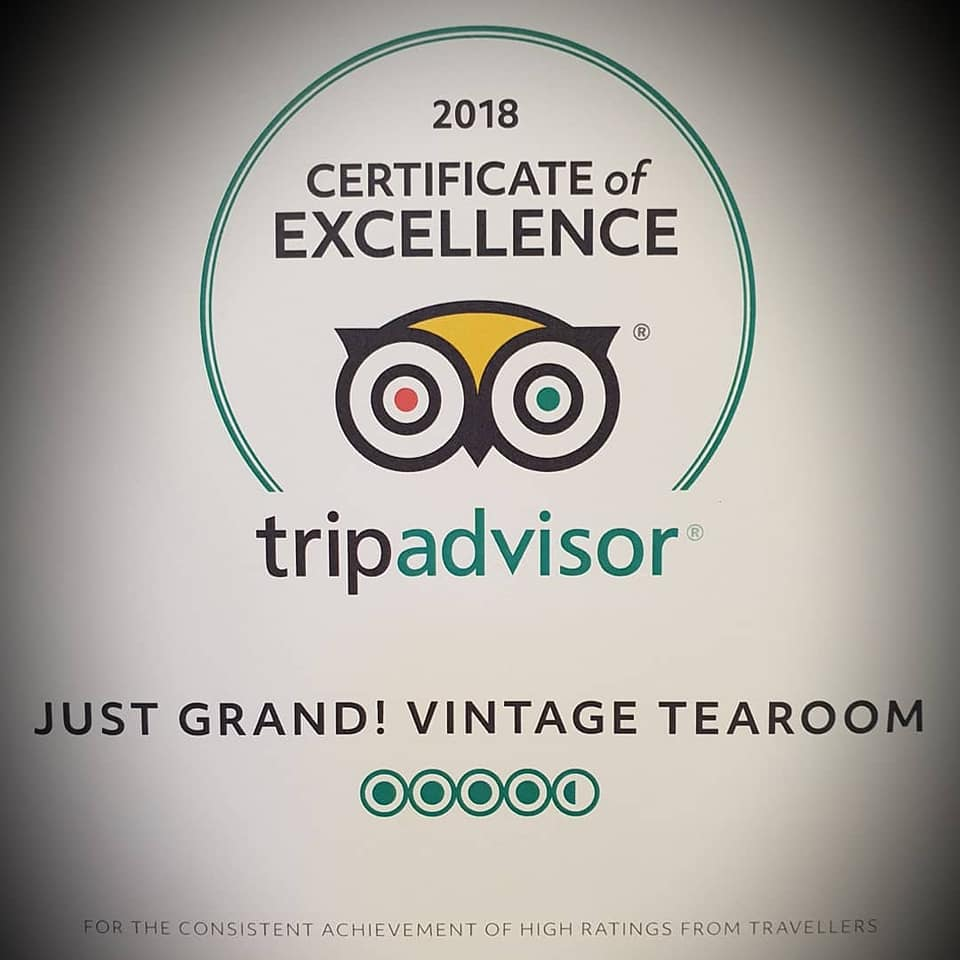 Grand Arcade Leeds Certificate Of Excellence For Just Grand